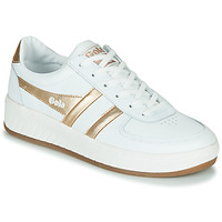 Chaussures Femme Baskets basses Gola GRANDSLAM LEATHER Blanc / doré