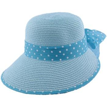 Accessoires textile Homme Chapeaux Julien Dulac Chapeau paille Vulcano en mottled bleu Bleu