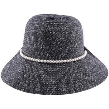 Accessoires textile Homme Chapeaux Julien Dulac Chapeau Paille Lipari en mottled chiné Noir et Blanc Noir