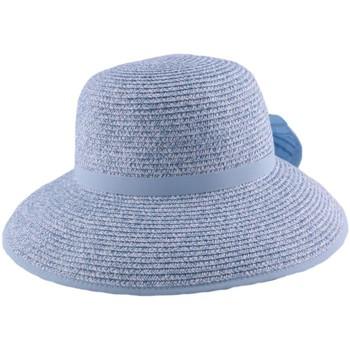 Accessoires textile Homme Chapeaux Julien Dulac Chapeau paille Ischia en chiné Bleu ciel et Blanc Bleu