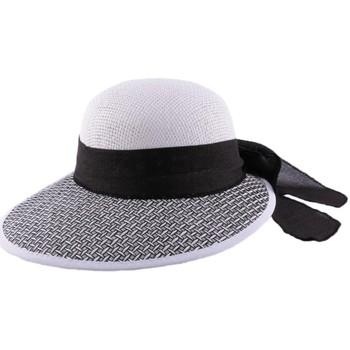 Accessoires textile Homme Chapeaux Julien Dulac Chapeau en paille Amiata en Raphia Noir et Blanc Noir
