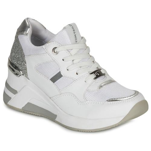 Chaussures Femme Baskets basses Tom Tailor  Blanc / Argenté