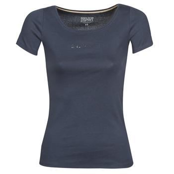 Vêtements Femme T-shirts manches courtes Esprit T-SHIRTS LOGO Marine