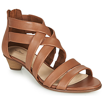 Chaussures Femme Sandales et Nu-pieds Clarks MENA SILK Camel