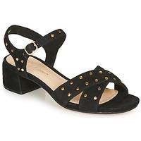 Chaussures Femme Sandales et Nu-pieds Clarks SHEER35 STRAP Noir / clou