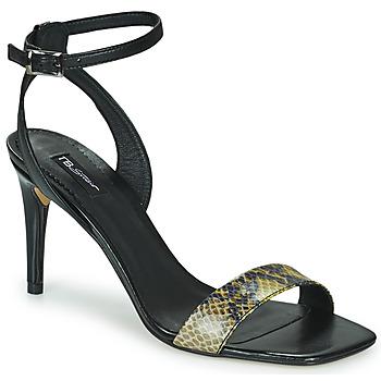 Chaussures Femme Sandales et Nu-pieds Tosca Blu LA-DIGUE Noir / Python jaune