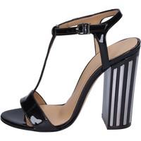 Chaussures Femme Sandales et Nu-pieds Marc Ellis sandales cuir verni noir