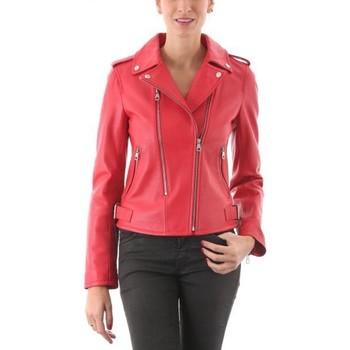 Vêtements Femme Vestes en cuir / synthétiques Intuitions Paris Astrid Rouge Rouge