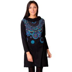 Vêtements Femme Robes Coton Du Monde ANJIA Noir