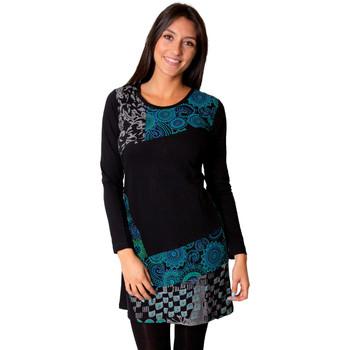 Vêtements Femme Robes Coton Du Monde ESTRELA Noir
