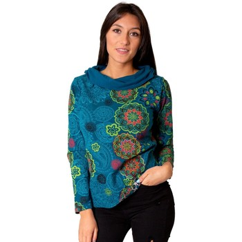 Vêtements Femme Tops / Blouses Coton Du Monde Top MALAWI Bleu
