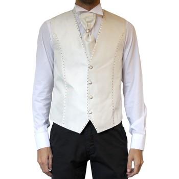 Vêtements Homme Gilets de costume Kebello Gilet cérémonie H Blanc Blanc