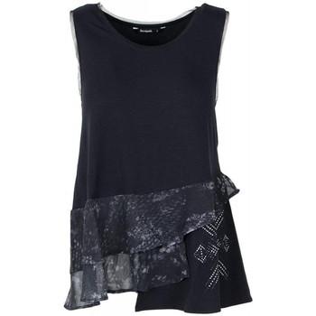 Vêtements Femme Tops / Blouses Desigual T Shirt Calendre Noir 18SWTKEF(sp) 38