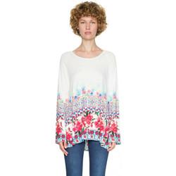 Vêtements Femme Tuniques Desigual T Shirt Vienna Blanc 18SWTKG9 1