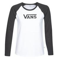 Vêtements Femme T-shirts manches longues Vans FLYING V LS RAGLAN Blanc / Noir
