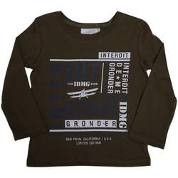 Vêtements Garçon T-shirts manches longues Interdit De Me Gronder SAN FRANSISCO Vert kaki