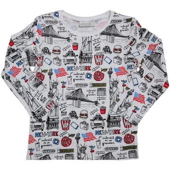 Vêtements Enfant T-shirts manches longues Interdit De Me Gronder New York Blanc cassé