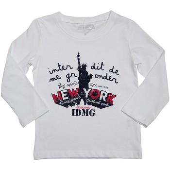 Vêtements Enfant T-shirts manches longues Interdit De Me Gronder LIBERTE Blanc