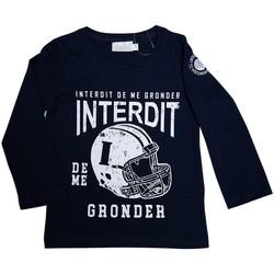 Vêtements Garçon T-shirts manches longues Interdit De Me Gronder GAME Bleu