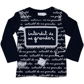 Vêtements Enfant T-shirts manches longues Interdit De Me Gronder L'ECRITURE Bleu