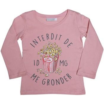 Vêtements Fille T-shirts manches longues Téléchargez lapplication pour POP CORN Rose