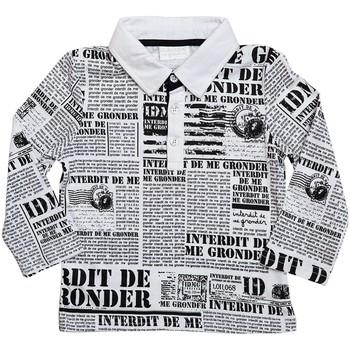 Vêtements Garçon Polos manches longues Interdit De Me Gronder NEWS Blanc