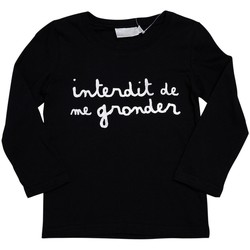 Vêtements Enfant T-shirts manches longues Interdit De Me Gronder SILVER Argent
