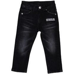 Vêtements Garçon Jeans droit Interdit De Me Gronder BLAKY Noir