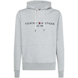 Vêtements Homme Sweats Tommy Hilfiger Sweat à Capuche Logo Gris Clair