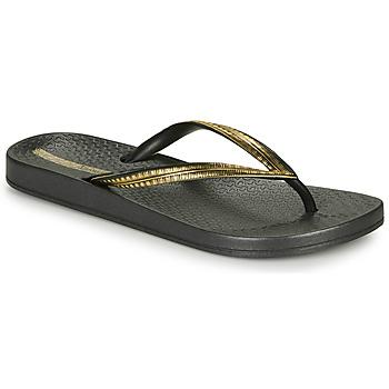 Chaussures Femme Tongs Ipanema MESH IV Noir / Doré