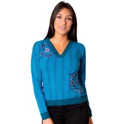 Vêtements Femme Tops / Blouses Coton Du Monde Kari Bleu