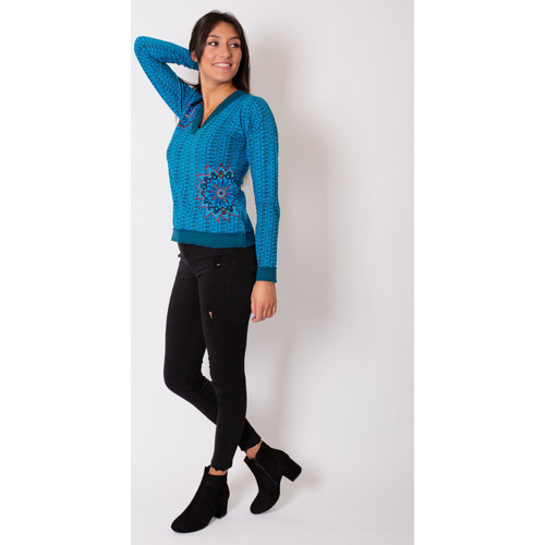 Kari  Coton Du Monde  tops / blouses  femme  bleu