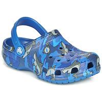 Chaussures Garçon Sabots Crocs CLASSIC SHARK CLOG Blue