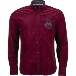 Vêtements Homme Chemises manches longues Ruckfield - hauts BORDEAUX