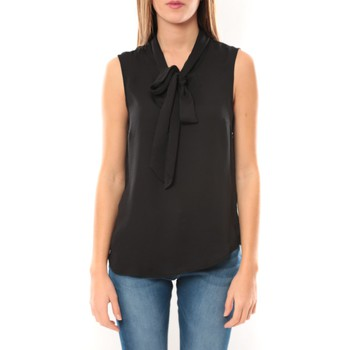 Blouses Vero moda heston s/l bow top 10099278 noir