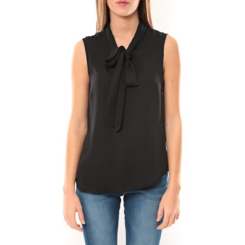 Vêtements Femme Tops / Blouses Vero Moda Heston S/L Bow Top 10099278 Noir Noir