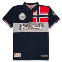 Vêtements Garçon Polos manches courtes Geographical Norway KIDNEY Marine