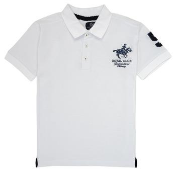 Vêtements Garçon Polos manches courtes Geographical Norway KAMPAI Blanc