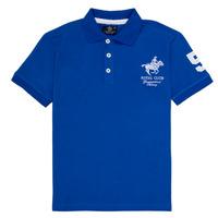 Vêtements Garçon Polos manches courtes Geographical Norway KAMPAI Bleu