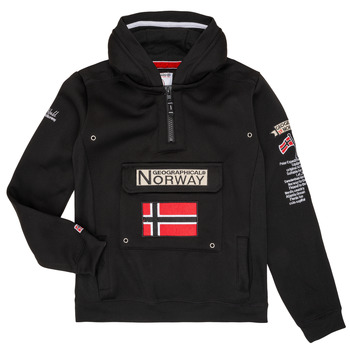 Vêtements Garçon Sweats Geographical Norway GYMCLASS Noir