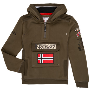 Vêtements Garçon Sweats Geographical Norway GYMCLASS Kaki