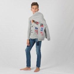 Vêtements Garçon Sweats Interdit De Me Gronder KONIK Gris