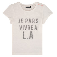 Vêtements Fille T-shirts manches courtes Ikks DARRIAL Blanc