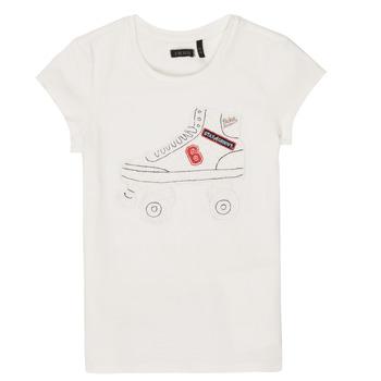 Vêtements Fille T-shirts manches courtes Ikks NADANA Blanc