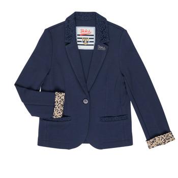 Vêtements Fille Vestes / Blazers Ikks NIKO Marine