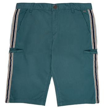 Vêtements Garçon Shorts / Bermudas Ikks MANUEL Bleu vert