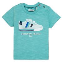 Vêtements Garçon T-shirts manches courtes Ikks MARIA Turquoise