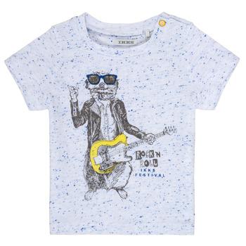 Vêtements Garçon T-shirts manches courtes Ikks MARIO Blanc