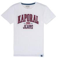 Vêtements Garçon T-shirts manches courtes Kaporal ERNIE Blanc