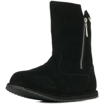 Chaussures Fille Bottes ville EMU Gravelly Teens noir